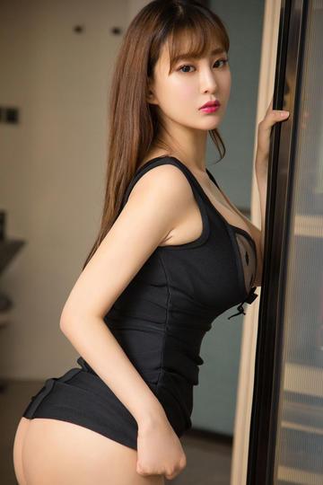 黑色性感内衣美女模特高清图