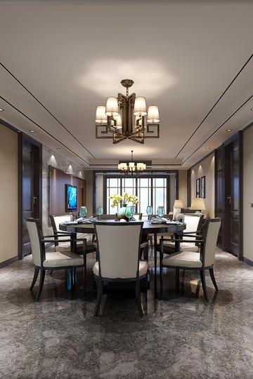 简约中式风格餐厅装修效果图欣赏