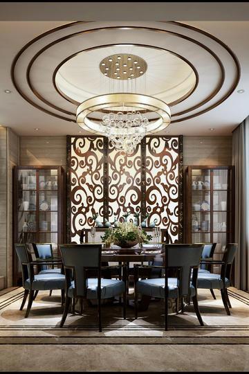 中式餐厅装修设计高清图片