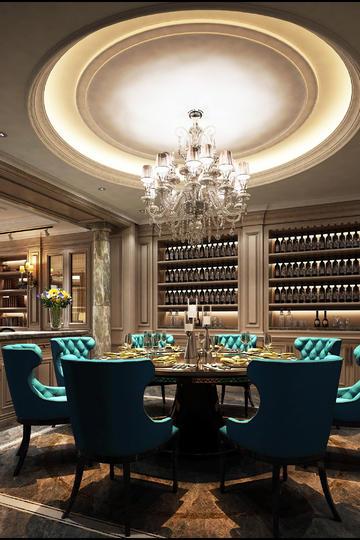 北欧风格餐厅装修设计效果图