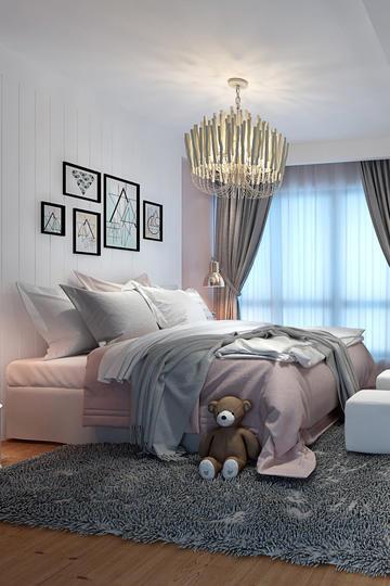 简约风格主卧室装修设计效果图