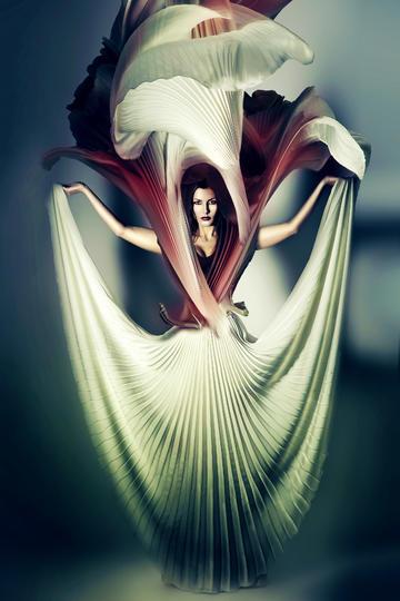 飞扬的百褶裙欧美艺术摄影