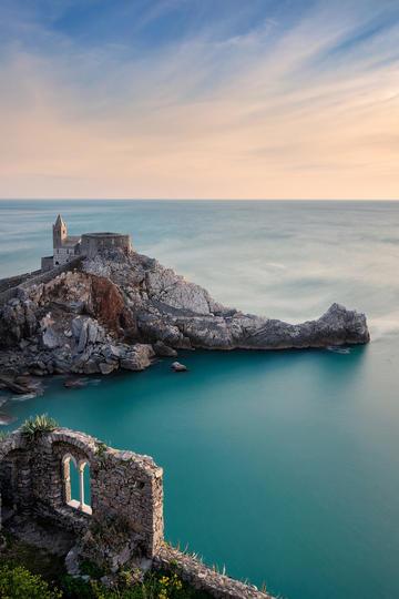 高清唯美浪漫海岸城堡风景图片