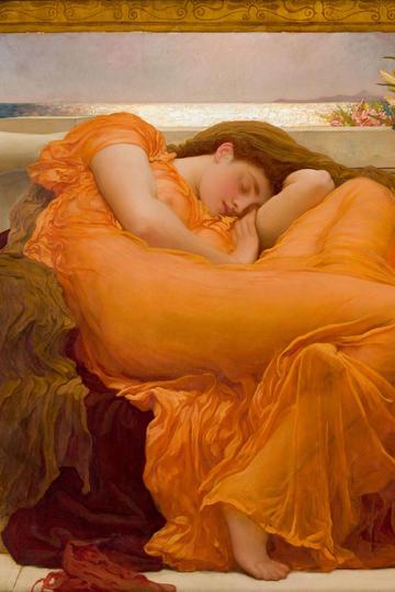 睡美人油画人物图片