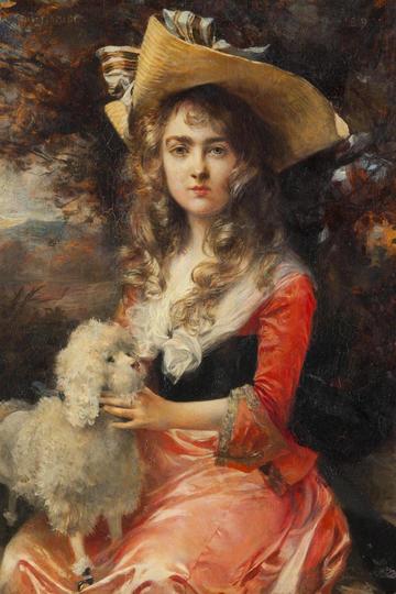 欧美世界名画宫廷仕女人物肖像油画作品