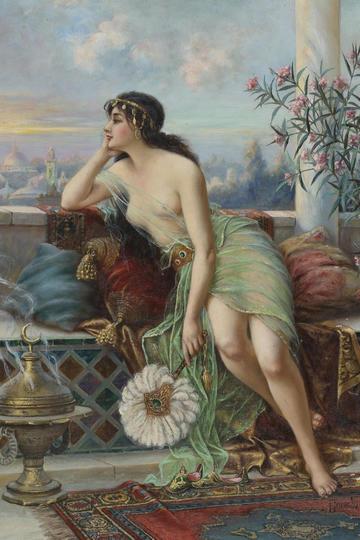 欧美宫廷美女人体油画图片