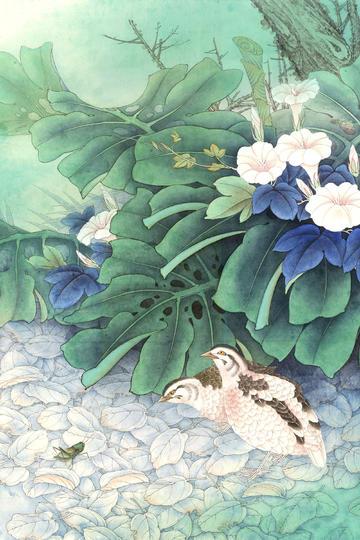 中国高清工笔花鸟画国画图片