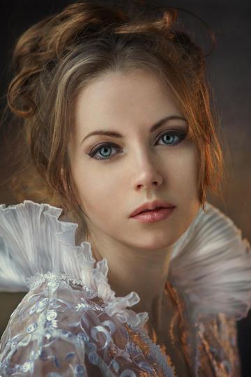 欧美美女肖像艺术摄影图片