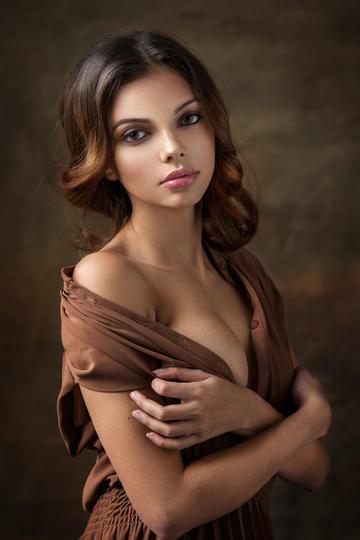 欧美美少女肖像艺术摄影图片