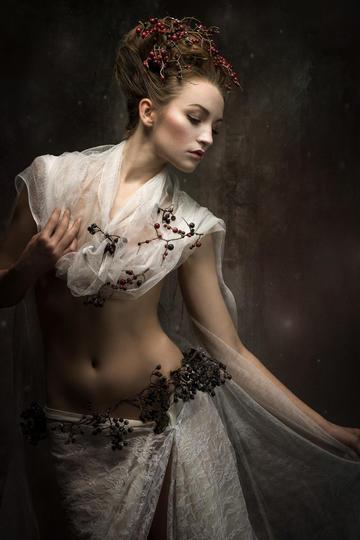 欧美平面模特美女肖像艺术摄影图片