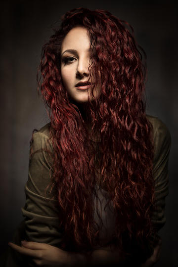 欧美气质美女平面模特艺术写真摄影图片