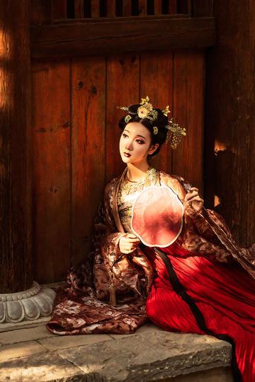 古代小姐古典古装美女清纯图片