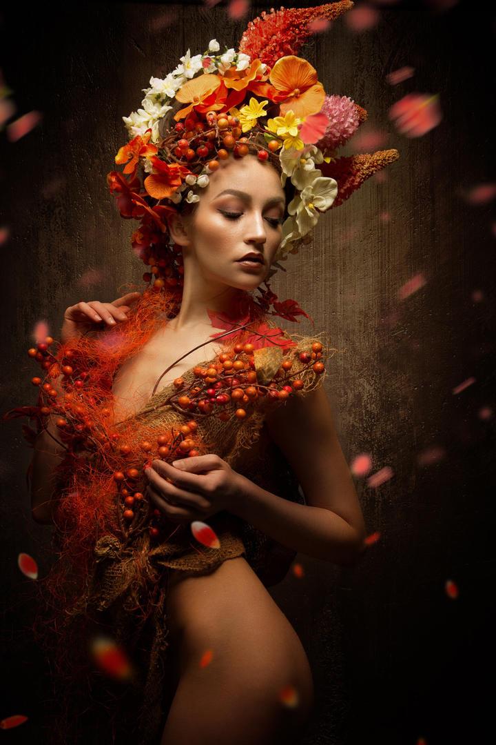 欧美美女肖像艺术摄影写真图片