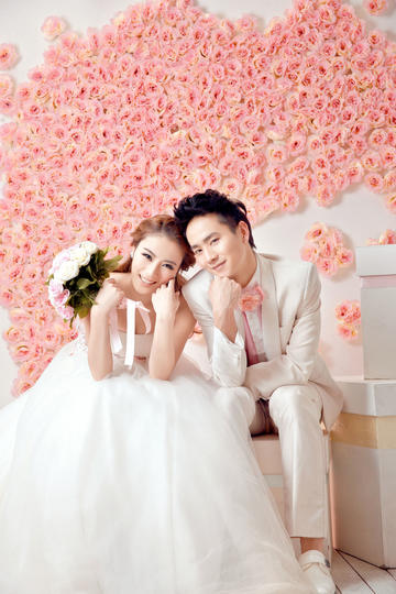 甜蜜浪漫婚纱摄影图片