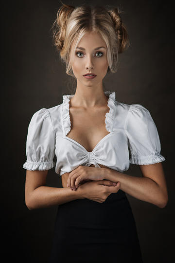 清纯的国外美女人像摄影