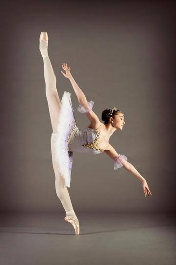 高难度芭蕾舞动作运动摄影