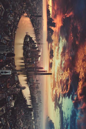 高清唯美上海陆家嘴风景图片