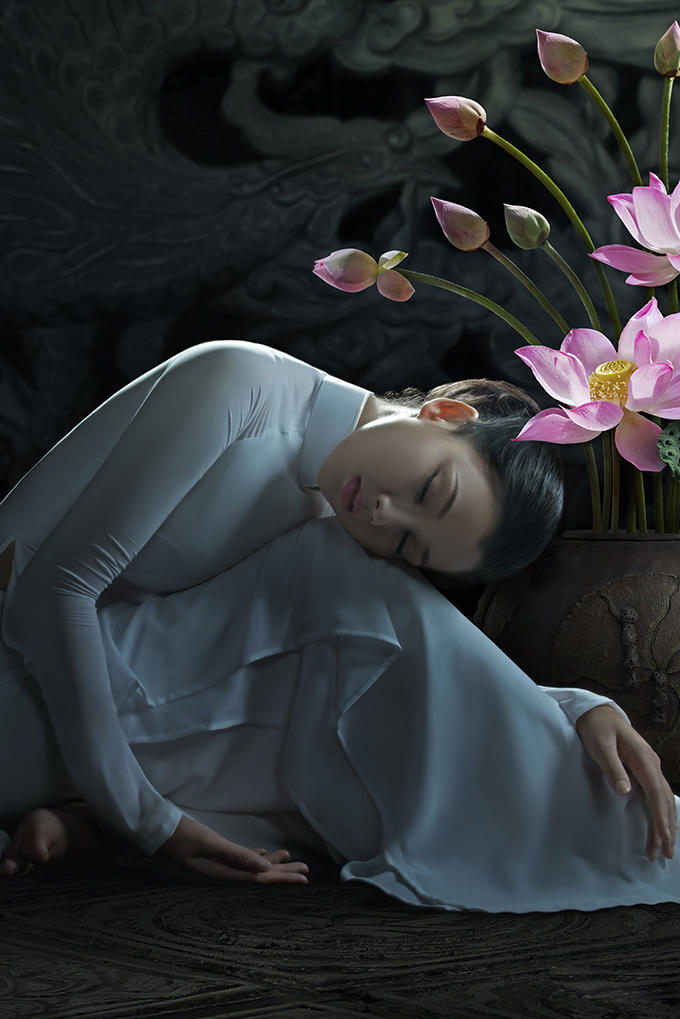 睡着的古典美人图片
