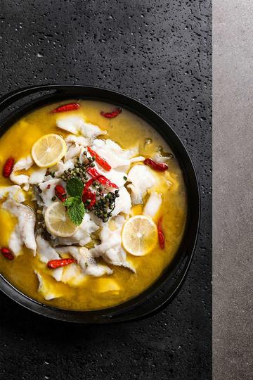 美味酸菜柠檬鱼图片