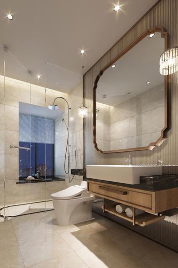 洗手间和卫生间家装设计效果图