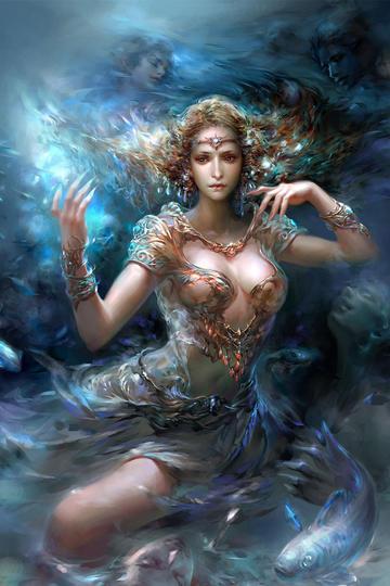 欧美女海神科幻画性感动漫美女图片高清