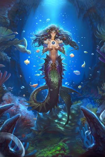 欧美科幻画美人鱼游戏原画高清图片
