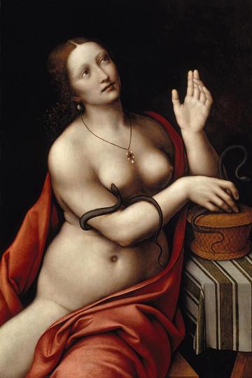 达芬奇人体艺术油画作品-裸体美女油画图片