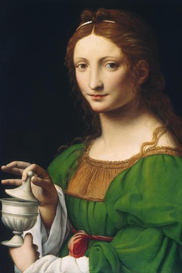 达芬奇世界名画-美女人物肖像油画作品