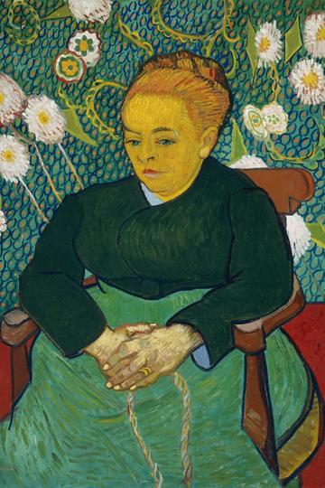 世界名画-梵高著名人物肖像油画作品图片