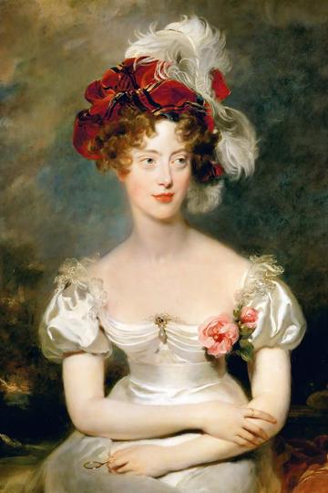 欧洲宫廷贵族美女肖像油画图片高清
