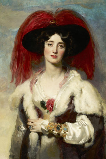 欧洲宫廷贵族夫人人物肖像油画作品