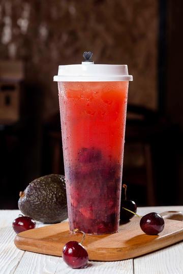 夏天创意果汁奶茶美食图片高清