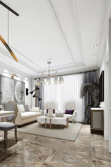 现代北欧风格客厅装修效果图高清