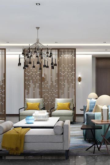 现代简约客厅家居装修设计效果图