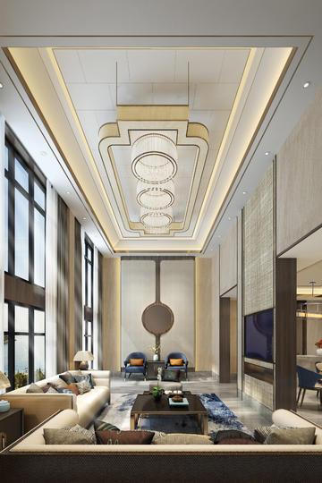大气北欧风格客厅装修设计效果图