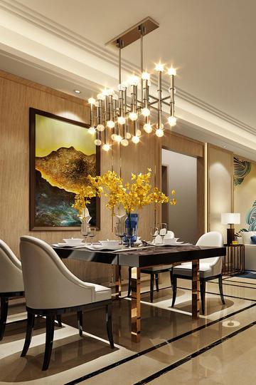 时尚轻奢欧式客厅家居装修效果图