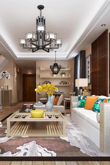现代简约风格公寓客厅装修效果图