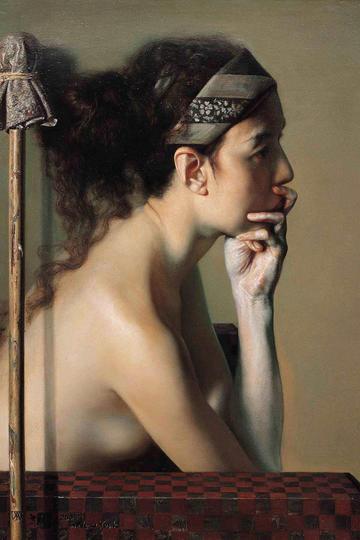 中国人体油画肖像作品图片