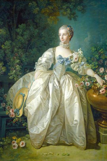 欧洲宫廷贵妇人高清油画人物图片