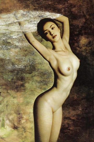 中国美女人体油画作品图片高清
