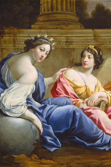 欧美两个丰满的待女宫廷人物油画作品图片
